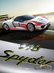 Studio27: Marking / livery 1/24 scale - Porsche 918 Spyder Salzburg #3, 25, 57 - water slide decals and assembly instructions - for Revell references REV07026 and REV07027