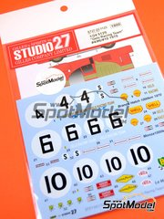 Studio27: Marking / livery 1/24 scale - Ferrari 512S GELO Racing Team #4, 6, 10 - 1000 Kms Brands Hatch, 1000 Kms Monza, 24 Hours Le Mans 1970 - water slide decals and assembly instructions - for Fujimi references FJ12385, FJ123851 and 123851
