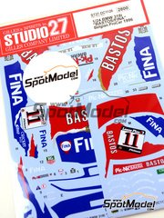 Studio27: Marking / livery 1/24 scale - BMW 318i Fina Bastos #11 1996 - water slide decals and assembly instructions - for Hasegawa references 20269 and 20270 image