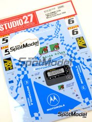 Studio27: Marking / livery 1/24 scale - BMW 318i Motorola Pagers Racing #5, 6 - Tim Harvey (GB) - Guia Race of Macau 1994 - water slide decals and assembly instructions - for Hasegawa references 20269 and 20270 image