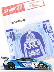 Studio27: Marking / livery 1/24 scale - McLaren MP4-12C GT3 Racing Studio San Lorenzo #23 - Thomas Biagi (IT) + Filippo Francioni (IT) - Italian GTs Championship 2015 - water slide decals and assembly instructions - for Fujimi references FJ125558, FJ125633 and FJ125879 image