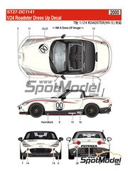 Studio27: Decals 1/24 scale - Mazda MX-5 Roadster Potenza #00, 12, 55 - for Tamiya reference TAM24342