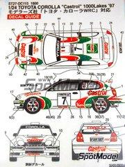 Studio27: Decals 1/24 scale - Toyota Corolla WRC Castrol - 1000 Lakes Finland Rally 1997