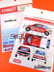 Studio27: Decals 1/24 scale - Volkswagen Golf I GTI Belga #29 - European Rally Championship - ERC 1984 - for Fujimi references FJ12275 and FJ126098, or Revell reference REV07072