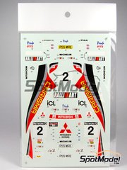 Studio27: Decals 1/24 scale - Mitsubishi Lancer Carisma Ralli art - Richard Burns (GB) + Robert Reid (GB) - Great Britain RAC Rally 1997