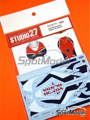 Studio27: Marking 1/12 scale - Honda RC213V-S - water slide decals and assembly instructions - for Tamiya kit TAM14130