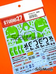 Studio27: Marking / livery 1/12 scale - Honda RC213V Gresini Racing #19 - Álvaro Bautista (ES) - Motorcycle World Championship 2014 - water slide decals and assembly instructions - for Tamiya reference TAM14130 image