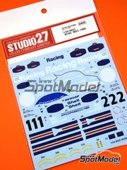 Studio27: Marking 1/24 scale - Porsche 962C Rothmans #1 - Jochen Mass (DE) + Robert 'Bob' Wollek (FR), Derek Bell (GB) + Hans-Joachim Stuck (DE) - 1000 Kms Monza, 1000 Kms SPA, 6 Hours Silverstone 1986 - water slide decals and assembly instructions - for Hasegawa kits 20280 and 20283 image