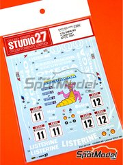 Studio27: Decoración escala 1/24 - BMW M3 E30 Team Listerine Nº 11, 12 - Will Hoy (GB), Ray Bellm (GB) - Campeonato Inglés de Turismos - BTCC 1991 - calcas de agua y manual de instrucciones - para kit de Beemax Model Kits B24007