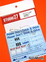 Studio27: Marking 1/24 scale - BMW M3 E30 Labatt's #4, 9 - Tim Harvey (GB), Laurence Bristow (GB) - British Touring Car Championship - BTCC 1991 - water slide decals and assembly instructions - for Beemax Model Kits kit B24007