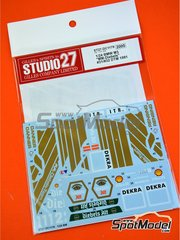 Studio27: Marking 1/24 scale - BMW M3 E30 MM-Diebels Team #31, 32 - Christian Danner (DE) - DTM 1991 - water slide decals and assembly instructions - for Aoshima kit 098196