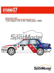 Studio27: Marking / livery 1/24 scale - Mitsubishi Galant VR-4 Citizen #9 - 1000 Lakes Finland Rally 1989 - water slide decals and assembly instructions - for Hasegawa reference 20288