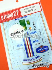 Studio27: Marking / livery 1/24 scale - Subaru Legacy RS Rothmans Subaru UK Rally Team #2, 6 - Colin McRae (GB) + Derek Ringer (GB), Francois Chatriot (FR) + Michel Perin (FR) - Manx International Rally 1991 - water slide decals and assembly instructions - for Hasegawa kit 20290 image