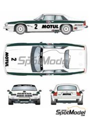 Studio27: Marking / livery 1/24 scale - Jaguar XJ-S Motul TWR Jaguar Racing #2, 3 - Tom Walkinshaw (GB) + Chuck Nicholson (GB), Enzo Calderari (CH) + Pierre Dieudonne (BE) - Brno Grand Prix 1983 - water slide decals and assembly instructions - for Hasegawa reference 20305