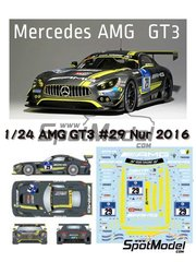 Studio27: Marking / livery 1/24 scale - Mercedes AMG GT3 HTP Motorsport #29 - 24 Hours Nürburgring 2016 - water slide decals and assembly instructions - for Tamiya references TAM24345 and 24345