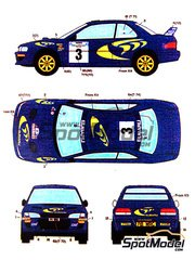 Studio27: Decals 1/24 scale - Subaru Impreza