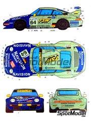 Studio27: Marking 1/24 scale - Porsche 911 GT2 TSW #64, 65 - Rob Schirle (GB) + André Ahrle (DE) + David Warnock (GB) - 24 Hours Le Mans 1998