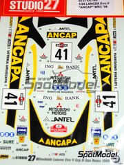 Studio27: Decals 1/24 scale - Mitsubishi Lancer Evo V Ancap - Sanremo Rally 1998