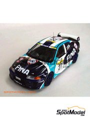 Studio27: Decals 1/24 scale - Mitsubishi Lancer Evo V Fina #27 - Marc Duez (BE) + Philippe Dupuy (FR) - Montecarlo Rally 1999