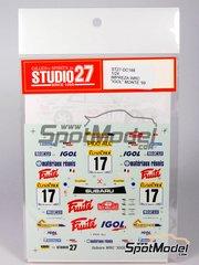 Studio27: Decals 1/24 scale - Subaru Impreza WRC IGOL - Gilles Panizzi (FR) + Hervé Panizzi (FR) - Montecarlo Rally 1999