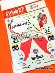 Studio27: Decals 1/24 scale - Mitsubishi Lancer Evo IV Marlboro #34 - Terry Harryman (GB) - Catalunya Costa Dorada RACC Rally 1998