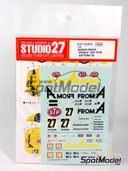 Studio27: Marking 1/24 scale - Nissan R89C FROM A Racing #27 - Masahiro Hasemi (JP), Heinz-Harald Frentzen (DE), Volker Weidler (DE), Mauro Martini (IT), Jeff Krosnoff (US) - 24 Hours Daytona 1992 - for Tamiya kit TAM24192
