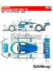 Studio27: Marking / livery 1/24 scale - Mazda 787B Efini #201 - Yojiro Terada (JP) + Maurizio Sandro Sala (BR) + Johnn 'Johnny' Herbert (GB) - Japan GT Championship JGTC 1991 - water slide decals and assembly instructions - for Tamiya references TAM24112 and TAM24326