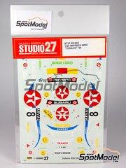 Studio27: Decals 1/24 scale - Subaru Impreza WRX TEXACO - Goudezeune + Depelsemaeker 1999