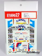 Studio27: Decals 1/24 scale - Peugeot 205