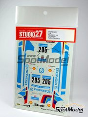 Studio27: Decals 1/24 scale - Peugeot 205