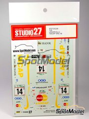Studio27: Decals 1/24 scale - Mitsubishi Lancer Evo V Ancap - New Zealand rally 1999