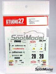 Studio27: Decals 1/24 scale - Renault 5 Turbo Calberson #20 - Bruno Saby (FR) + Daniel Le Saux (FR) - Montecarlo Rally 1981