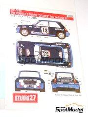 Studio27: Model kit 1/25 scale - Renault 5 Turbo