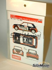 Studio27: Decals 1/24 scale - Renault 5 Turbo