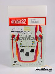 Studio27: Marking / livery 1/20 scale - Porsche 935 Turbo Trisconi - 24 Hours Le Mans 1979 - for Tamiya reference TAM24311