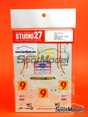 Studio27: Marking / livery 1/20 scale - Porsche 935 Turbo Budweiser - Bob Akin (US), Roy Woods (US), Rob McFarlin (US) - 24 Hours Daytona 1979