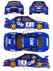 Studio27: Decals 1/24 scale - Subaru Impreza WRC Q8 #4 - Franco Cunico (IT) + Luiggi Pirollo (IT) - Giro de Italia Rally 1999