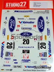 Studio27: Decals 1/24 scale - Ford Focus WRC Valvoline #20 - Petter Solberg (NO) + Phil Mills (GB) - Great Britain RAC Rally 1999