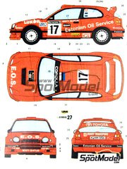 Studio27: Model kit 1/25 scale - Toyota Corolla WRC
