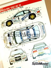 Studio27: Decals 1/24 scale - Subaru Impreza WRC ERG - Paolo Andreucci (IT) + Giovanni Bernacchini (IT) - Giro de Italia Rally 1999
