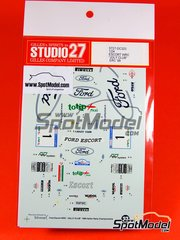 Studio27: Model kit 1/25 scale - Ford Escort Jolly Club