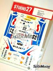Studio27: Decals 1/24 scale - Subaru Impreza WRX WIZJATV - Krzysztof Holowczyc (PL) + Jean-Marc Fortin (BE) - Svezia Sweden Rally 2000