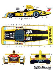 Studio27: Marking / livery 1/25 scale - Renault Alpine A442