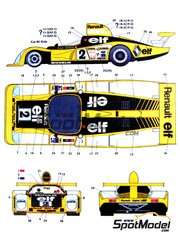 Studio27: Marking / livery 1/24 scale - Alpine Renault A442