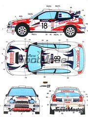 Studio27: Decals 1/24 scale - Toyota Corolla WRC Neal Bates Racing #18 - Neal Bates (AU) + Coral Taylor (AU) - Australian Rally 1999