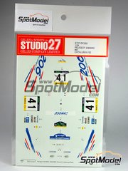 Studio27: Decals 1/24 scale - Peugeot 206 WRC #41 - Fabrice Morel (FR) + Philippe Guellerin (FR) - Catalunya Costa Dorada RACC Rally 2000 - for Tamiya reference TAM24267