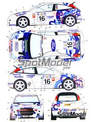 Studio27: Decals 1/24 scale - Ford Focus WRC Telefonica Movistar #16 - Phil Mills (GB) + Petter Solberg (NO) - Acropolis rally 2000