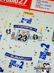 Studio27: Decals 1/24 scale - Subaru Impreza WRX Spike - Toshihiro Arai (JP) + Roger Freeman (GB) - Acropolis rally 2000