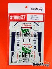 Studio27: Decals 1/24 scale - Subaru Impreza WRX NET - Armin Kremer (DE) + Fred Berssen (DE) - ADAC Deutschland Rally 1999