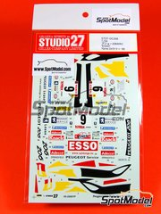 Studio27: Marking / livery 1/24 scale - Peugeot 206 WRC Esso Springfield Adecco - Patrick Snijers (BE) + Eddy van der Pluym (BE) - 24 Hours de Ypres Rally 2000 - water slide decals and assembly instructions - for Tamiya reference TAM24267